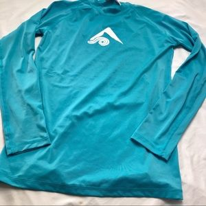 Kanu Long Sleeve Rash Guard Swim Shirt Sz Med